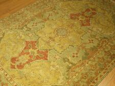 4 x 6 Hand Knotted Oushak Rug - Veggie Dyes Hand Spun Very Soft Wool Rug #3177
