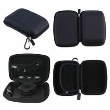 For TomTom Go Via 135  Hard Case Carry With Accessory Storage GPS Sat Nav Black