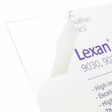 Lexan Sheet Polycarbonate 18 Thick Clear 24 X 24 Nominal