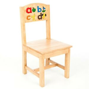 Solid Handmade Child's Kids Children's Rubberwood ABC Chair - FU-706/700-C