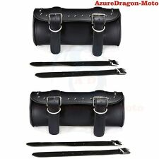 Leather Motorbike Motorcycle Tool Roll Saddle Bag Luggage Universal Fit Toolroll