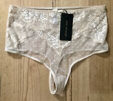 Pleasure State CARINA CARESSE Medium Bikini Mini Brief black crimson lace Rrp$50