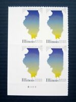 Sc # 5274 ~ Plate # Block ~ Forever Issue, Illinois Statehood (de16)