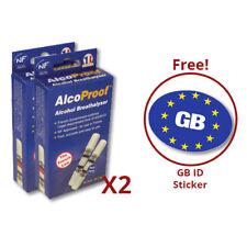 Alcohol 2x AlcoProof Breathalyser con Euro Pegatina paquete de oferta en el coche