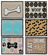 More details for bella fashion mat for dogs and cats food and water bowls- skid resistant