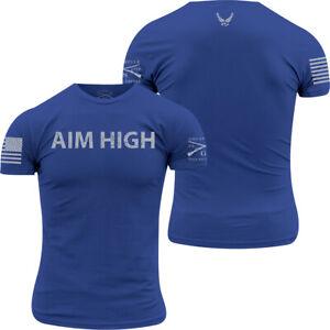 Grunt Style USAF - Aim High T-Shirt - Royal Blue