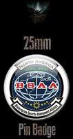 BSAA NORTH AMERICA LOGO 25mm BADGE Resident Evil Biohazard RE Image Bioterrorism