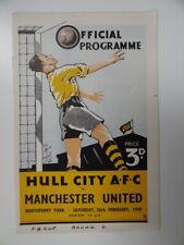 More details for hull city v manchester utd | 1948/1949 | fa cup r6 | 26 feb 1949 | uk freepost