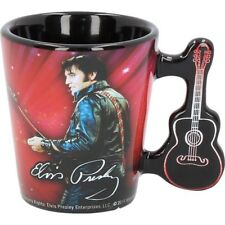 Elvis Presley Official Small Espresso Ceramic Coffee Cup Mug with Guitar Gifts