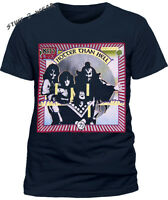 Kiss Hotter Than Hell T Shirt Blue OFFICIAL S M L XL XXL NEW