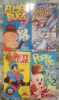 LOT OF 4 Cartoon Favorites VHS tapes. Elmer Fudd, Bugs Bunny, Daffy Duck, Porky