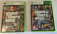 Grand Theft Auto 4 and 5 for xbox 360 preowned but very good condition