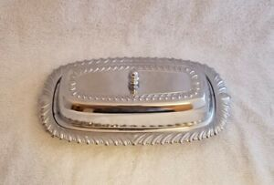Vintage Chrome Plated Irvinware Butter Dish And Lid