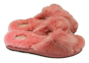 UGG Mirabelle Womens Genuine Pink Shearling Fluffy Slippers NEW