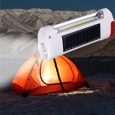 Solar Power LED Flashlight USB Rechargeable Camping Hiking Light Lantern Lamp