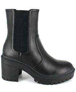 Rock & Candy by Zigi Women Block Heel Mid Calf Chelsea Boots Hadya US 9M Black