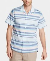 Nautica Mens Shirt Blue Size 3XL Striped Classic-Fit Stretch Button Down $59 155