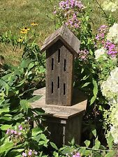 Butterfly House Rustic Weathered Natural Wood Usa Handmade