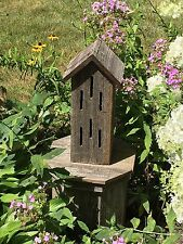 BUTTERFLY HOUSE NATURAL RUSTIC WEATHERED WOOD USA HANDMADE