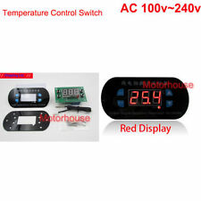 AC110V 220V Red Digital LED Temp Controller Meter Thermostat Cool/Heat Switching