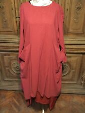 LAGENLOOK TUNIC WITH WATERFALL HEM AND BAGGY POCKETS , BOHEMIAN,  QUIRKY.  XL