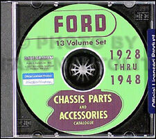 1928-1948 Ford 13 Parts Books on CD Green Bible and Body Catalogs