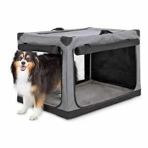 Animaze Portable Canvas Dark Grey Dog Crate