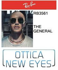 Occhiale da Sole RayBan THE GENERAL rb 3561 001 Ray Ban Sunglasses NEW GOLD G15