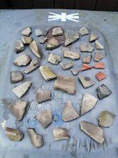 Celtic + Roman Pottery Shards Greyware Samian Ware (patterns) #10