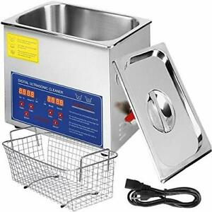 VEVOR Commercial Ultrasonic Cleaner 6L Heated Ultrasonic Cleaner with Digital...
