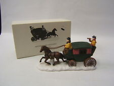 Dept 56 Heritage Village Accessory Horse With Coach Porcelain #6590-0 Vgc in box