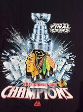 2013 Chicago Blackhawks Stanley Cup Champions black T-Shirt sz L large NWOT