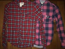 Abercrombie Kids Flannel Plaid Long Sleeve Shirts Size Small Medium Lot Of 2