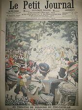 ROI CAMBODGE SISOWATH PRE CATELAN MANOEUVRE PONTAGE ISERE LE PETIT JOURNAL 1906