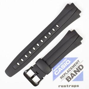 CASIO black rubber watch band for AQ-160W, AQ-163W 10137491