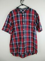 Vans Off The Wall Mens Shirt Size L Short Sleeve Button Up Regular Fit Plaid
