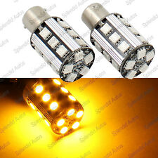 Amber Error Free No Resistor Required 1156 7506 7527 LED Turn Signal Light Bulbs
