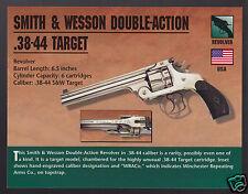 SMITH & WESSON DOUBLE-ACTION .38-44 TARGET Revolver Hand Gun Firearms PHOTO CARD