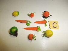 C Puppenstube Kaufmannsladen Zubehör Konvolut Schaugerichte Apfel Möhre Orangen