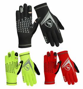 FDX Mens Running Gloves ColdGear Yoga Football lightweight Hi Viz Gloves
