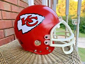 Vintage Kansas City Chiefs Riddell Full Size Little Pro XL Game Football Helmet