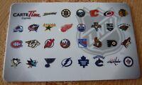 Reloadable Tim Horton's Gift Card ! NHL Hockey Teams ! Canadiens Bruins ++