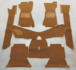 Cognac velours carpet kit / set for Alfa Romeo Montreal