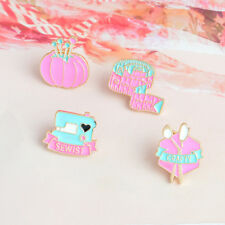 Collar Jacket Pin Badges Fashion Jewelry 4 Piece/Set Pink Enamel Brooch Sweater