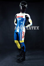 Grand Prix Style Custom Moto Suit Man Rubber Latex Catsuit Zentai
