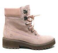 Timberland Womens Carnaby Cool Lace Up Work Boots Pink Nubuck Size 10 M
