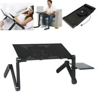 Adjustable Folding 360°Notebook Laptop Desk Table Stand Bed Tray + Cooling Fan