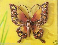 Wanddekoration  Schmetterling 39 cm  cm aus Metall & Glas-Elementen