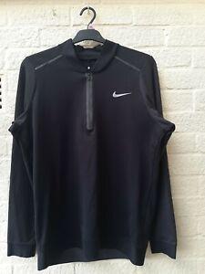 Mens Nike Tiger Woods Collection Golf Top Black size medium