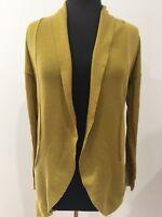Temt Designer Fashion Boho Retro Vintage Style Mustard Knit Shrug Jacket Small